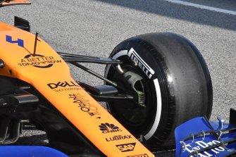 McLaren MCL34, dettaglio della sospensione anteriore