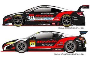 Modulo EPSON NSX-GTとModulo KENWOOD NSX GT3の2019年仕様カラーリング