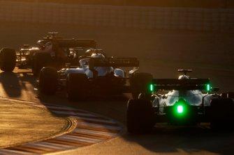 Alex Albon, Scuderia Toro Rosso STR14, George Russell, Williams FW42 e Sebastian Vettel, Ferrari SF90