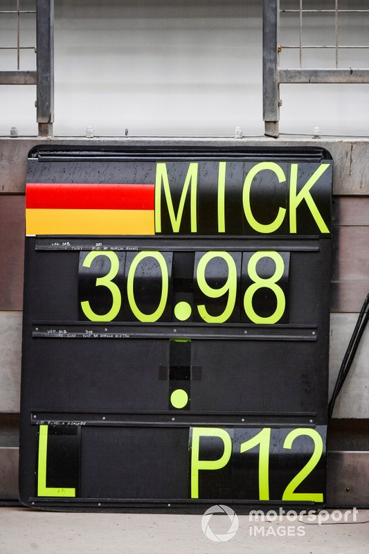 Pit board di Mick Schumacher, Ferrari