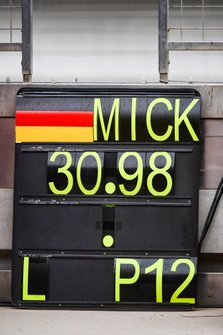 Pit board of Mick Schumacher, Ferrari