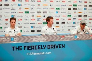 Stoffel Vandoorne, HWA Racelab, Oliver Turvey, NIO Formula E Team, Edoardo Mortara, Venturi Formula E, in the press conference