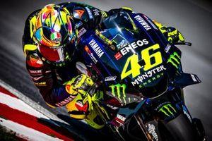 Nouveau casque de Valentino Rossi, Yamaha Factory Racing