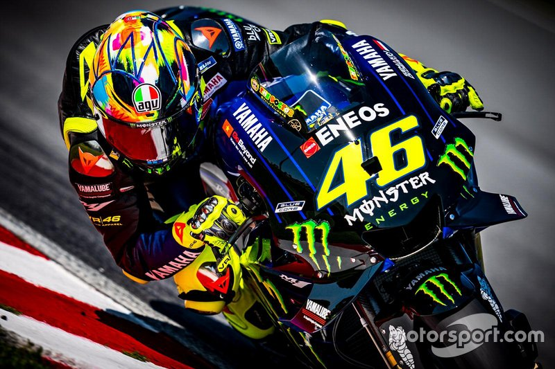 Valentino Rossi, Yamaha Factory Racing, casco per i test