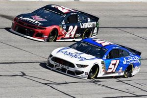 Cody Ware, Petty Ware Racing, Chevrolet Camaro and William Byron, Hendrick Motorsports, Chevrolet Camaro Liberty University