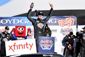 Kyle Busch, Joe Gibbs Racing, Toyota Supra Extreme Concepts/iK9, celebrates his victory
