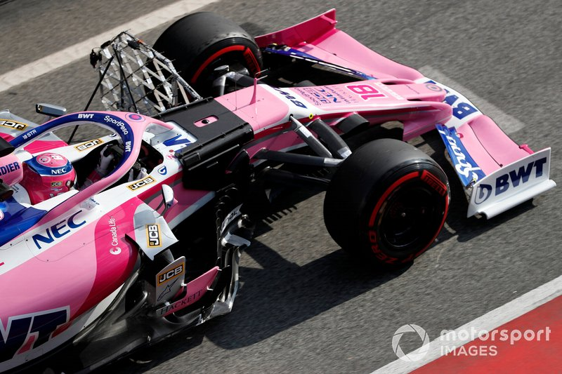 Lance Stroll, SportPesa Racing Point F1 Team RP19 with aero sensors