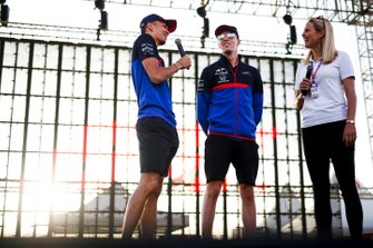 Alexander Albon, Toro Rosso, Daniil Kvyat, Toro Rosso et Rosanna Tennant