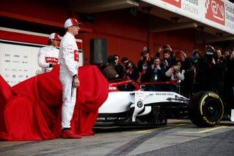Kimi Raikkonen, Alfa Romeo Racing and Antonio Giovinazzi, Alfa Romeo Racing unveil the new Alfa Romeo Racing C38