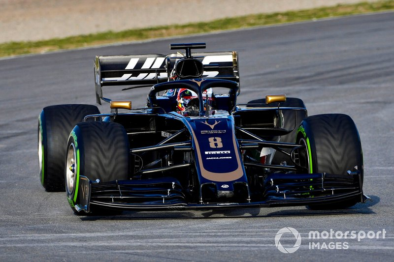 Ромен Грожан, Haas F1 Team VF-19 Ferrari.