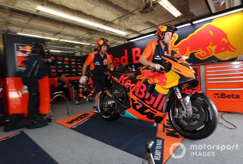 Il box di Johann Johann Zarco, Red Bull KTM Factory Racing