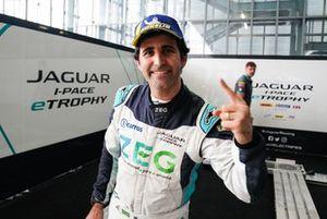 Sérgio Jimenez, Jaguar Brazil Racing, celebrates victory