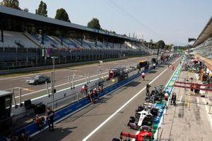 Monza track pit lane
