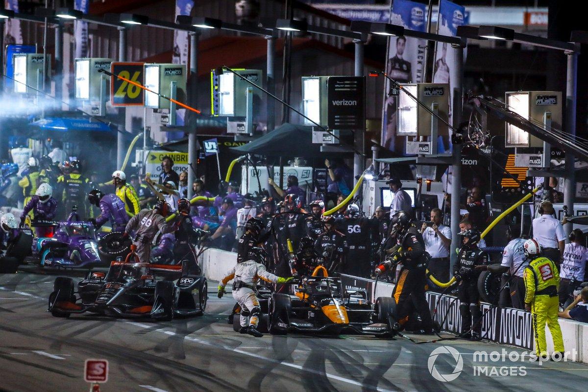 Patricio O'Ward, Arrow McLaren SP Chevrolet, Pit Stop