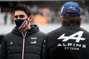 Esteban Ocon, Alpine, drivers parade