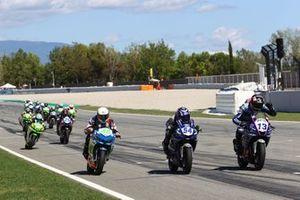 Samuel Di Sora, Leader Team Flembbo, Bahattin Sofuoglu, Biblion Yamaha Motoxracing et Alvaro Diaz Cebrian, Arco-Motor University Team