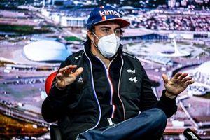 Fernando Alonso, Alpine F1 en conférence de presse