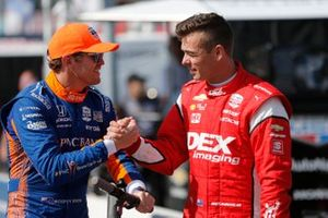 Scott McLaughlin, Team Penske Chevrolet, Scott Dixon, Chip Ganassi Racing Honda