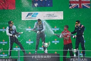 1st Oscar Piastri, Prema Racing 2nd Guanyu Zhou, Uni-Virtuosi Racing 3rd Dan Ticktum, Carlin