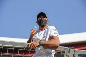 Race winner Lewis Hamilton, Mercedes
