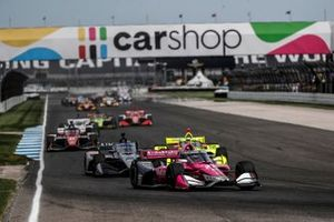 Alexander Rossi, Andretti Autosport Honda, Conor Daly, Ed Carpenter Racing Chevrolet, Simon Pagenaud, Team Penske Chevrolet