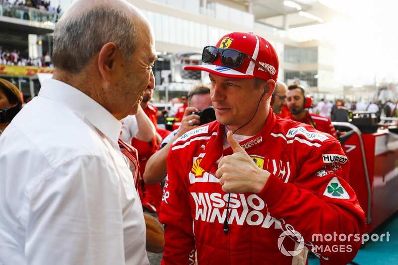 Peter Sauber, Team President, Sauber, Kimi Raikkonen, Ferrari