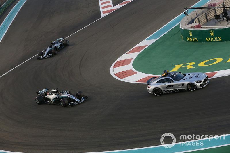 Safety Car leads Lewis Hamilton, Mercedes AMG F1 W09 EQ Power+