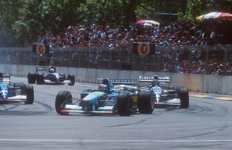 Michael Schumacher, Benetton B194, Damon Hill, Williams FW16B