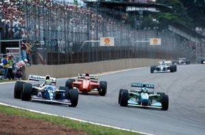 Michael Schumacher, Benetton B194 en Ayrton Senna, Williams FW16