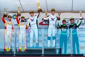 Podium: winners #1 Audi R8 LMS GT3: Geoff Emery, Garth Tander, second place #911 Porsche 911 GT3-R: Liam Talbot, John Martin, third place #8 Mercedes-AMG GT3: Max Twigg, Tony D'Alberto