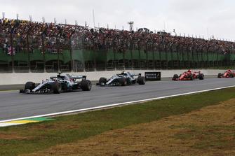 Lewis Hamilton, Mercedes-AMG F1 W09 leads Valtteri Bottas, Mercedes-AMG F1 W09 on lap one