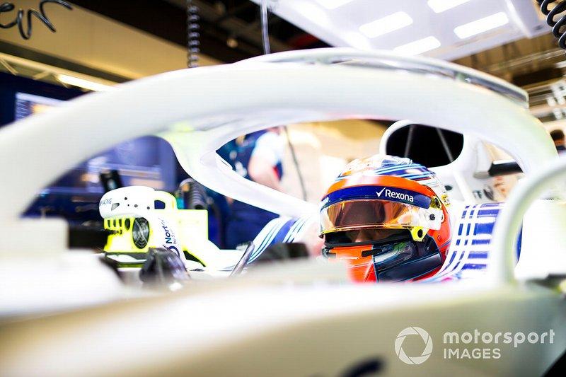 Robert Kubica, Williams Martini Racing, dans son cockpit