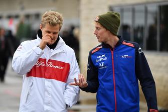 Marcus Ericsson, Alfa Romeo Sauber F1 Team and Brendon Hartley, Toro Rosso