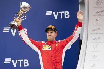 Sebastian Vettel, Ferrari, op het podium