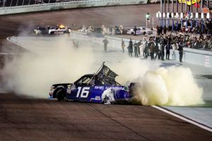 Brett Moffitt, Hattori Racing Enterprises, Toyota Tundra AISIN Group, burnout