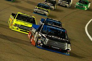 Noah Gragson, Kyle Busch Motorsports, Toyota Tundra Safelite AutoGlass and Matt Crafton, ThorSport Racing, Ford F-150 Ideal Door/Menards