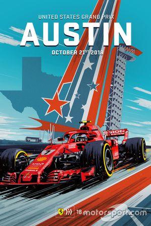 Cover ufficiale del GP degli USA di Valerio Schiti