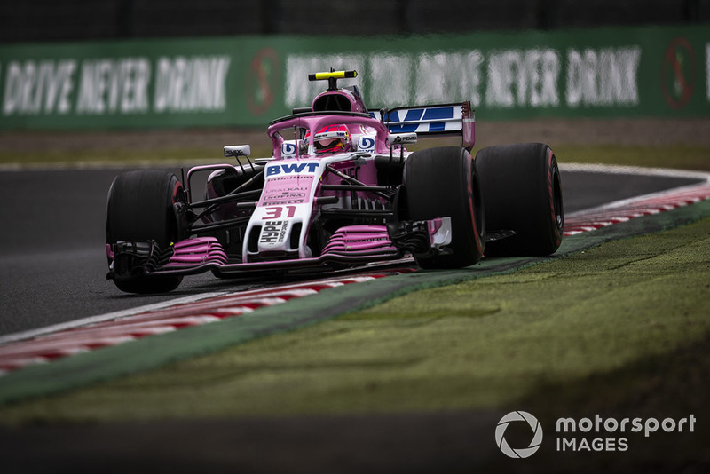11: Esteban Ocon, Racing Point Force India VJM11, 1'30.126 (inc 3-place grid penalty)
