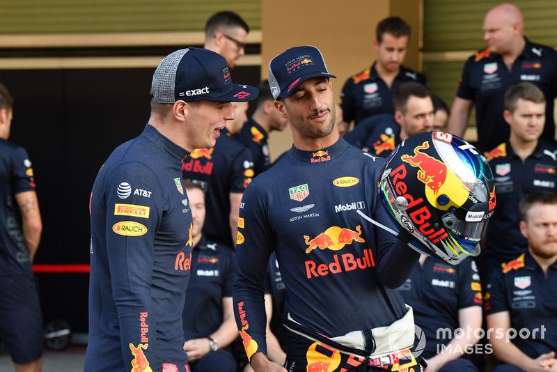 Max Verstappen, Red Bull Racing e Daniel Ricciardo, Red Bull Racing