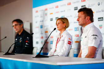 Allan McNish, Team Principal, Audi Sport Abt Schaeffler in the press conference