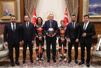 Can Öncü, Deniz Öncü, Kenan Sofuoğlu, Cumhurbaşkanı Recep Tayyip Erdoğan