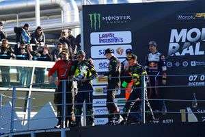 Winners Valentino Rossi, Carlo Cassina, second place Teemu Suninen, Marko Salminen, third place Roberto Brivio, Luca Brivio