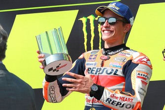 Podio: il terzo classificato Marc Marquez, Repsol Honda Team