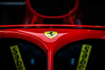 Ferrari logo on the Halo