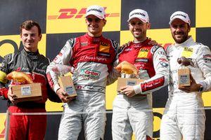 Podyum: Yarış galibi René Rast, Audi Sport Team Rosberg, 2. Nico Müller, Audi Sport Team Abt Sportsline ve 3. Gary Paffett, Mercedes-AMG Team HWA