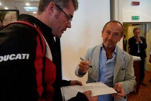 Giorgio Piola con Tronchetti Provera