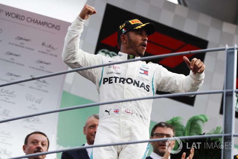 El ganador: Lewis Hamilton, Mercedes AMG F1