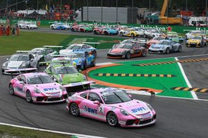 Start, Thomas Preining, BWT Lechner Racing, Michael Ammermüller, BWT Lechner Racing Mattia Drudi, Dinamic Motorsport