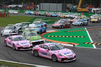 Start, Thomas Preining, BWT Lechner Racing, Michael Ammermüller, BWT Lechner Racing Mattia Drudi, Dinamic Motorsport
