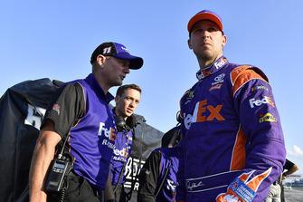 Denny Hamlin, Joe Gibbs Racing, Toyota Camry FedEx Ground and crew chief Mike Wheeler